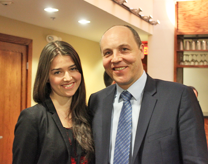 Parubiy and Ivanna